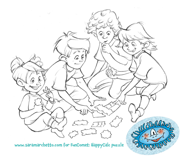 kids puzzle drawing