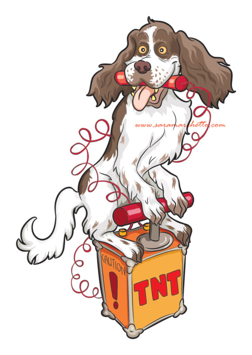 funny spaniel character