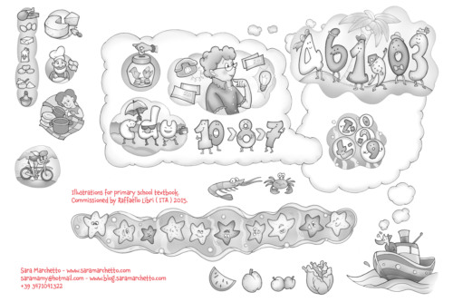 Illustrations for primary school textbook