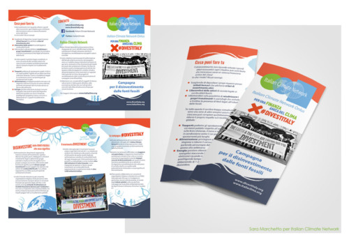 Brochure design, Divestment campaign by the Italian climate network.